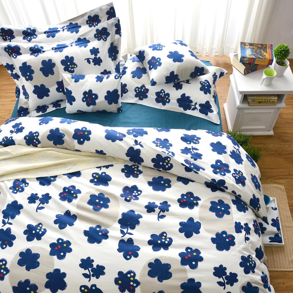 Cozy inn 點子-200織精梳棉四件式兩用被床包組(雙人)