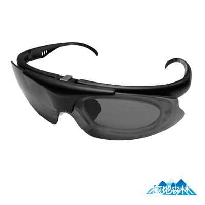 【極地森林】深灰色防爆PC鏡片運動太陽眼鏡(近視專用7652)