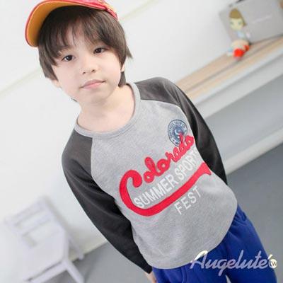 【baby童衣】圓領T恤男童長袖上衣純棉運動童裝 35281