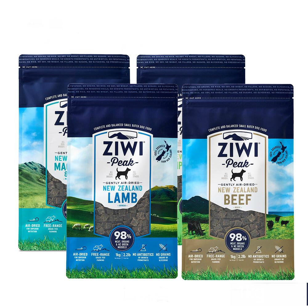 ZiwiPeak巔峰 96%鮮肉狗糧-1kg四口味各一