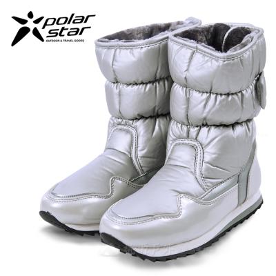 PolarStar 女 防潑水 保暖雪鞋│雪靴『銀』P13621