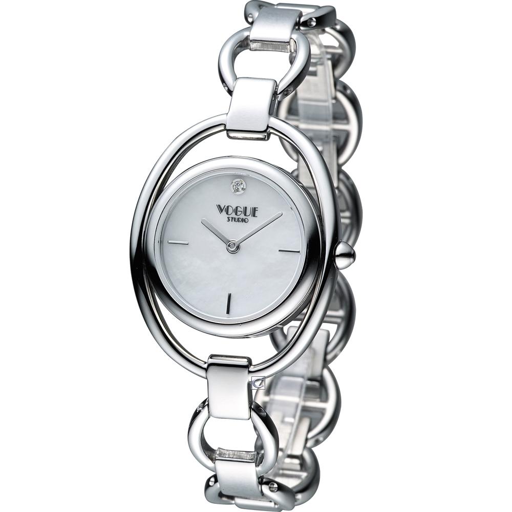 VOGUE 簡約出眾時尚腕錶-銀/30mm