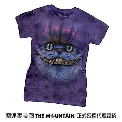 摩達客 美國進口The Mountain 笑笑柴郡貓臉 短袖女版T恤