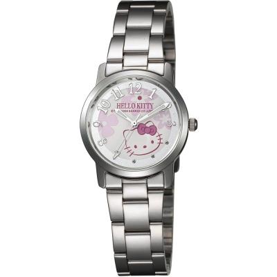 HELLO KITTY 凱蒂貓俏皮小花時尚腕錶-白/30mm