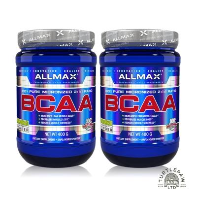 加拿大Allmax 奧美仕BCAA支鏈胺基酸粉末 (400公克*2瓶)