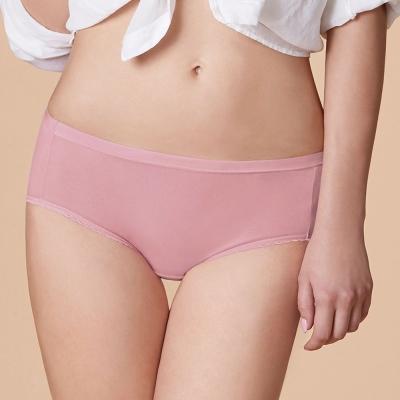 曼黛瑪璉 低腰三角生理內褲 M-XL(輕甜粉)