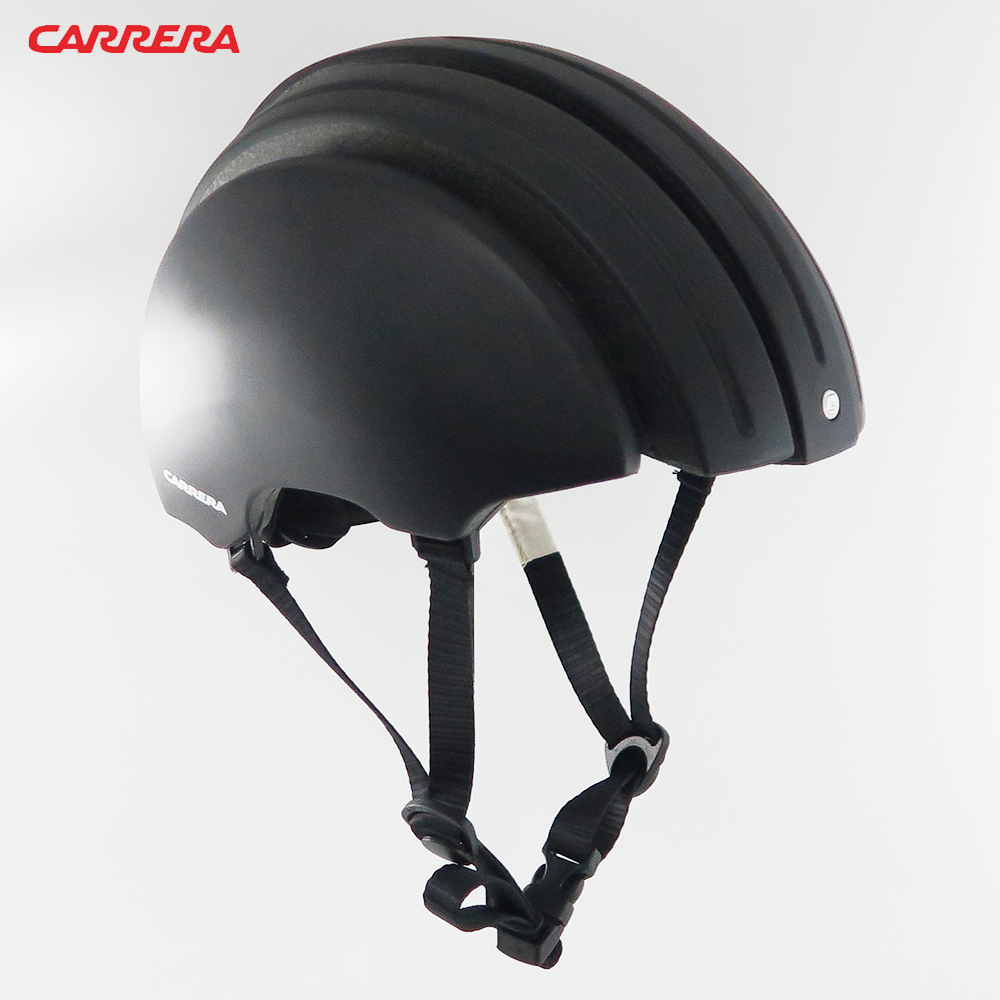 CARRERA義大利 Foldable 收縮式伸縮自行車安全帽-消光黑Black Matt