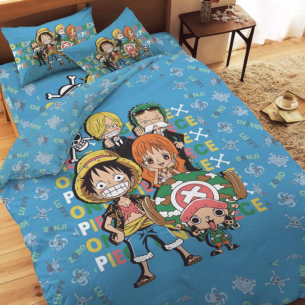 航海王 友誼之光系列-雙人純棉四件式床包涼被組