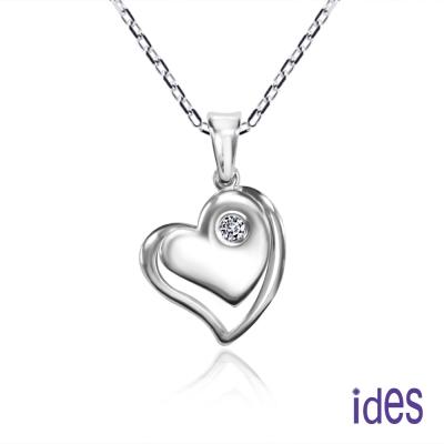 ides愛蒂思鑽石 戀心。輕甜時尚3分美鑽項鍊