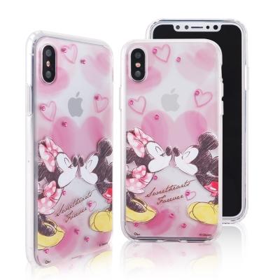Disney迪士尼iPhone X施華洛世奇水鑽雙料保護殼_經典手繪米奇米妮