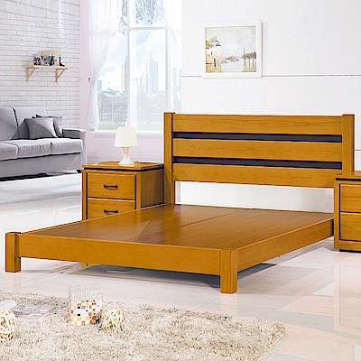 Boden-柏克5尺實木雙人床組(床頭片+床底)