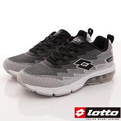 Lotto樂得-飛織氣墊緩震款-RFI178灰黑(男段)