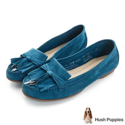 Hush Puppies Naveen 流蘇莫卡辛鞋-土耳其藍