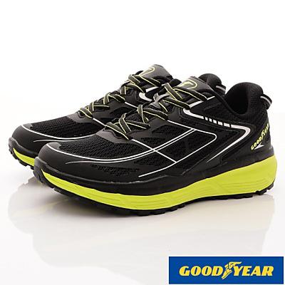 GOODYEAR-輕量動能緩震跑鞋-EI3385黑(男段)