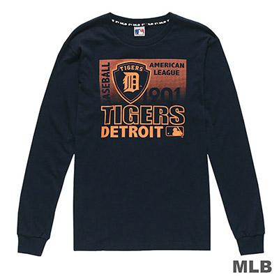 MLB-底特律老虎隊漸層印花長袖T恤-深藍 (男)