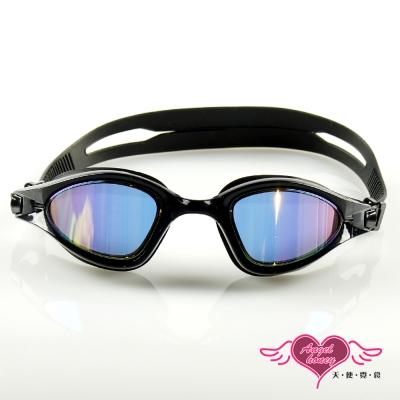 天使霓裳 抗UV防霧休閒電鍍泳鏡(90150-黑F)