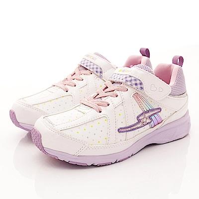 日本月星頂級童鞋 點點防潑水運動鞋 EI091白(中大童段)