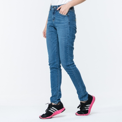 【ATUNAS 歐都納】女款防曬吸濕排汗彈性涼感牛仔長褲 A-PA1720W 藍