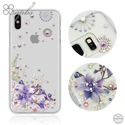 apbs APPLE iPhoneX 施華洛世奇彩鑽手機殼-祕密花園