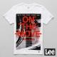 Lee 短袖T恤 單車圖案紅色文字印刷-男款