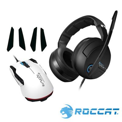 ROCCAT-KAVE-XTD電競耳麥-NEW-KOVA電競滑鼠白-KOVA鼠貼