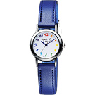 agnes b. 法國 Solar 太陽能時尚藝術女錶(BU9021P1)-藍/22mm
