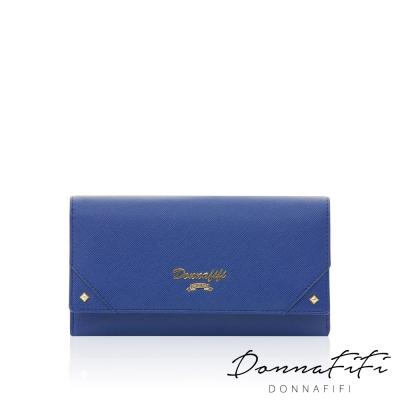 DONNAFIFI-維也納樂章長夾-寶石藍