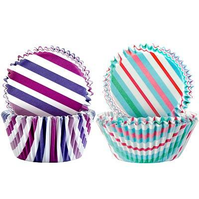 IBILI Sweet蛋糕紙模100入(彩紫線7.5cm)