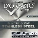 D'ORAZIO 義大利手工製 不鏽鋼材質 電吉他弦(No.X33)