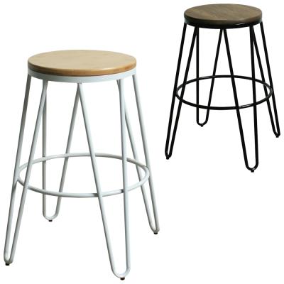 YOI傢俱 格雷納工業風金屬吧台椅2入組(高腳椅)58x58x66cm