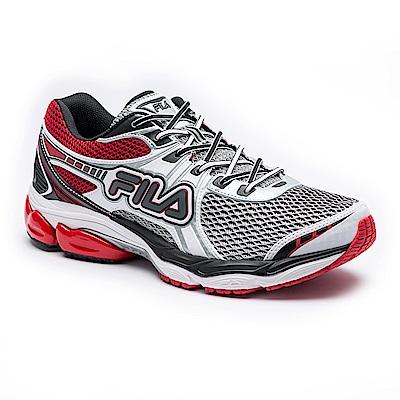 FILA 男款ENERGIZED專業慢跑鞋-白黑 1-J029S-120