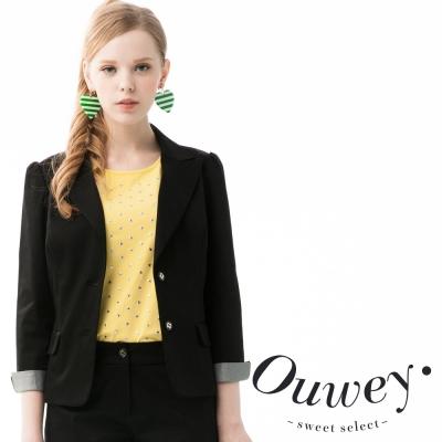 OUWEY-歐薇-少女時代反摺袖西裝外套-共2色