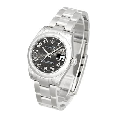 ROLEX 勞力士 Datejust 178240 蠔式恆動日誌型腕錶-黑色同心圓/31mm