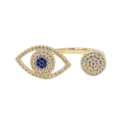 apm MONACO法國精品珠寶 璀璨之眼鍍K金戒指