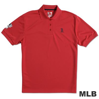 MLB- 波士頓紅襪隊印花POLO衫-紅(男)