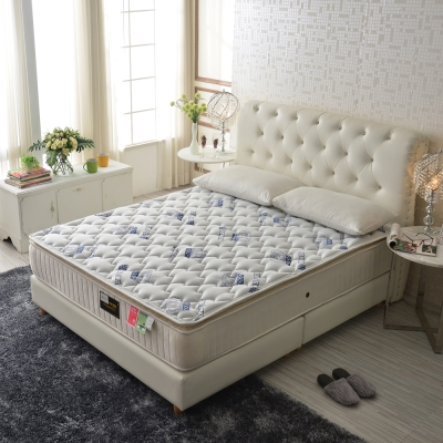 Ally愛麗 厚三線天絲棉-乳膠蜂巢獨立筒床-單人3.5尺