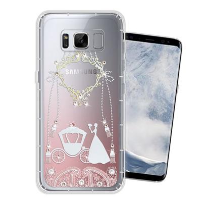 WT Samsung Galaxy S8 5.8吋 奧地利水晶彩繪空壓手機殼(精...