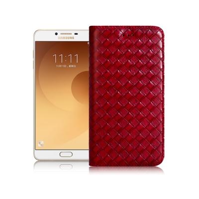 XM Samsung Galaxy C9 Pro 魔幻編織磁吸皮套