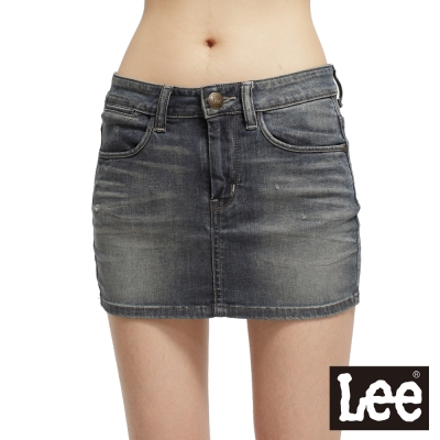 【Lee】【Surf'N Roll】牛仔短裙 -女款(中古藍)