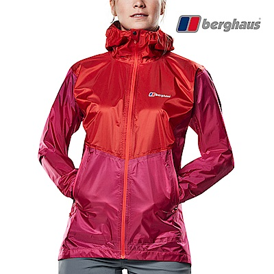 【Berghaus貝豪斯】女款超輕量超潑水透氣外套S02F06-粉