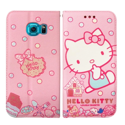 Hello Kitty 三星 Samsung S6 Edge 磁力皮套(甜點sw...