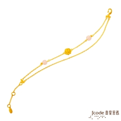 J'code真愛密碼 茶花仙子黃金手鍊