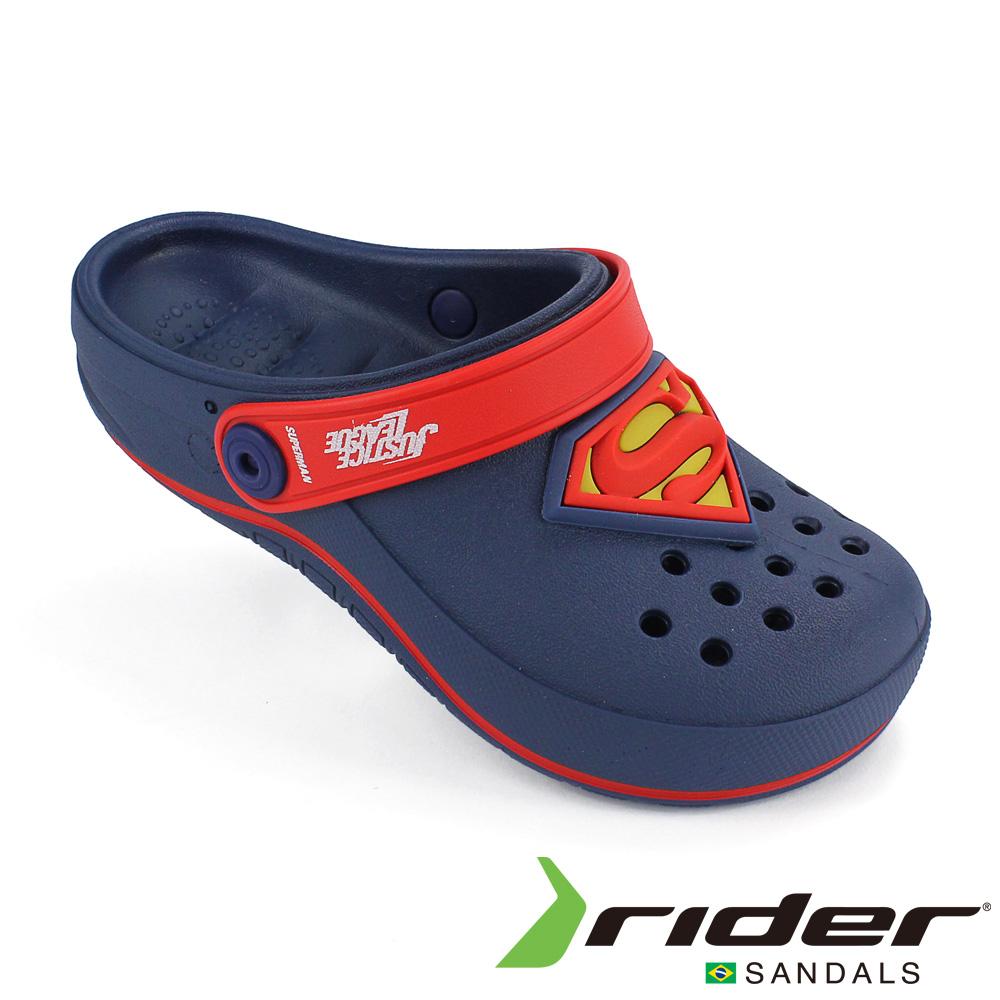 RIDER 巴西-童 正義聯盟 運動洞孔鞋 海軍藍/紅色