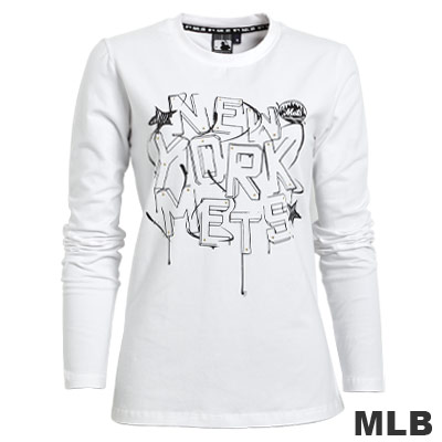MLB-紐約大都會棉質T恤-白(女)