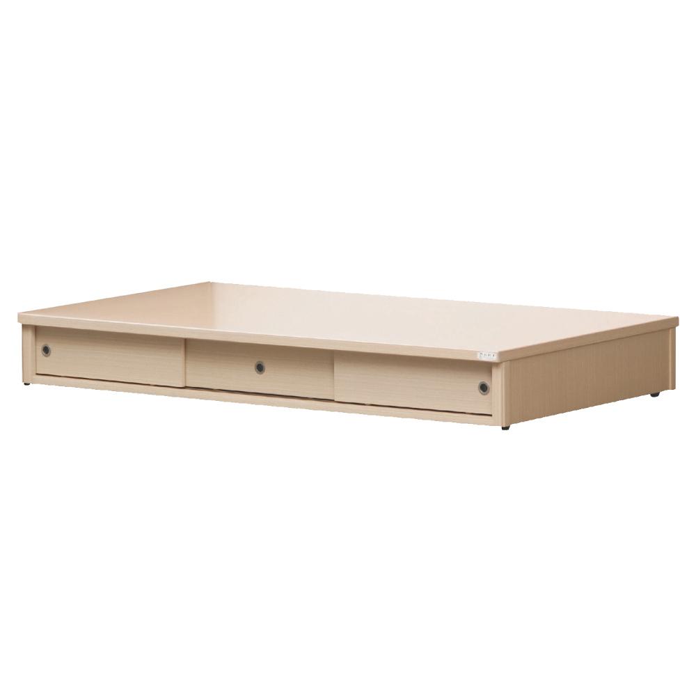 品家居 伯斯3.5尺三門收納床底(八色可選)-105x186x26.5cm免組