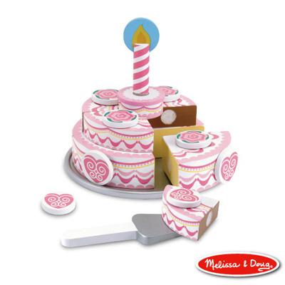美國瑪莉莎 Melissa & Doug 木製玩食趣 - 三層蛋糕