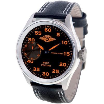 MOSCOW CLASSIC 俄羅斯征服飛航機械腕錶-黑/橘標/41mm