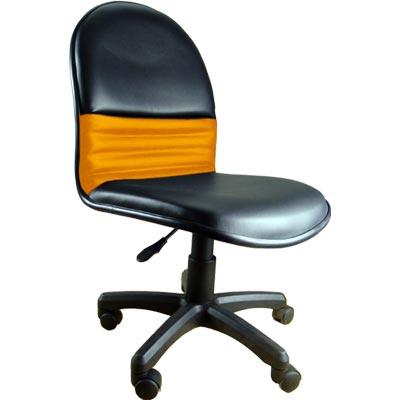 黑/黃 皮的辦公椅/電腦椅