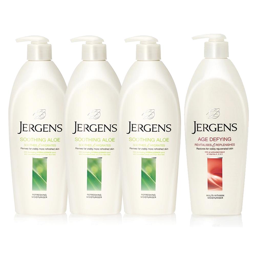 JERGENS珍柔 美體護膚保濕乳液650ml-蘆薈x3+維他命x1