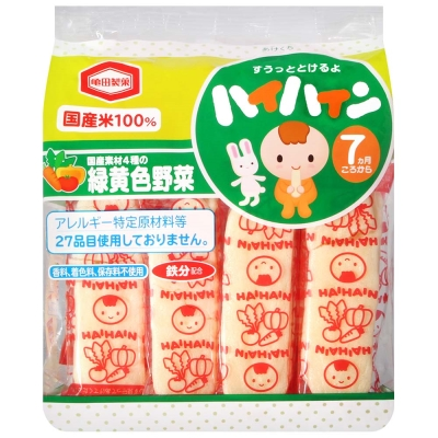 龜田製果 嬰兒米果-野菜(53g)